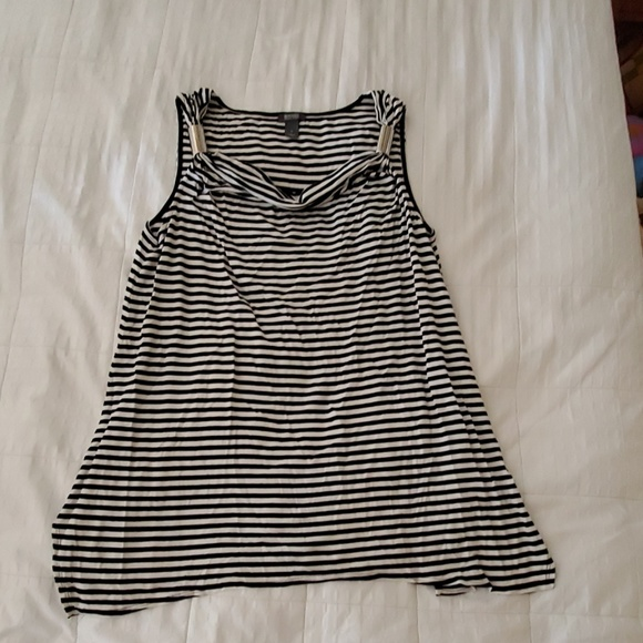 Kenneth Cole striped loose tank top